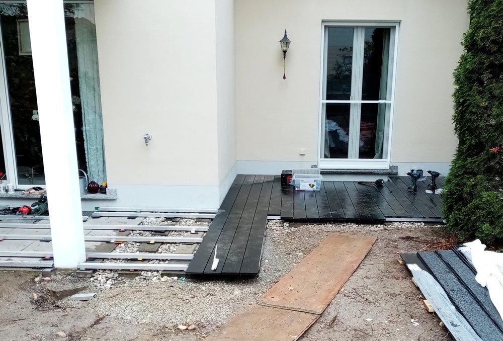 WPC-Deck im Bau